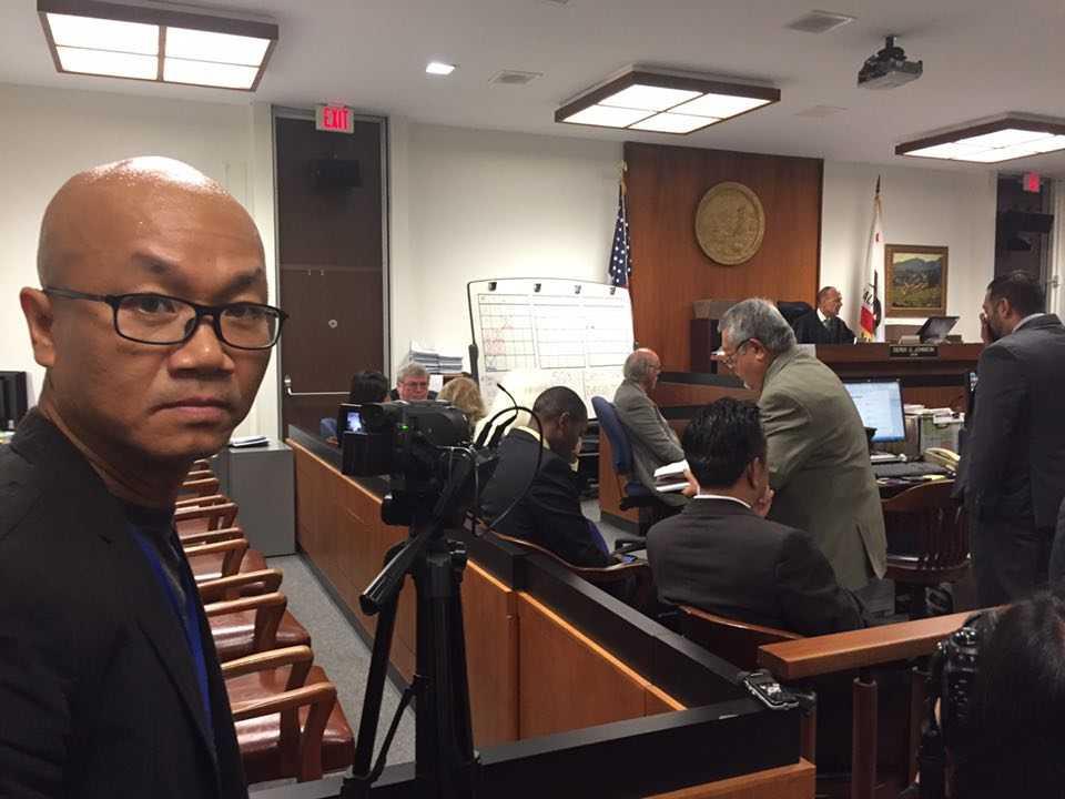 Những hình ảnh tại phiên tòa được nhà báo Vũ Hoàng Lân/Phố Bolsa TV gửi cho VTC News