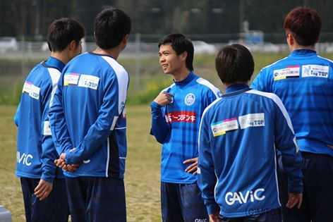 Công Phượng tập luyện cùng đồng đội Mito Hollyhock