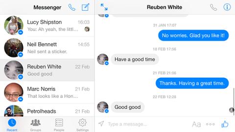 Tính năng mới của messenger đôi khi cũng gây phiền với người dùng. Ảnh Metro