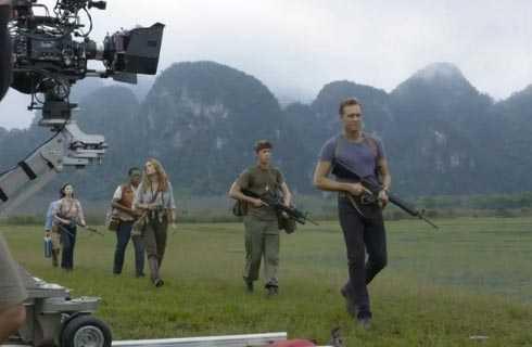 Các diễn viên củaKong: Skull Islandtrong một cảnh quay thực hiện tại Việt Nam. Ảnh:MTV