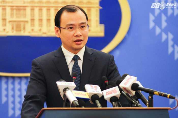 Người phát ngôn Bộ Ngoại giao, Lê Hải Bình - Ảnh: Tùng Đinh