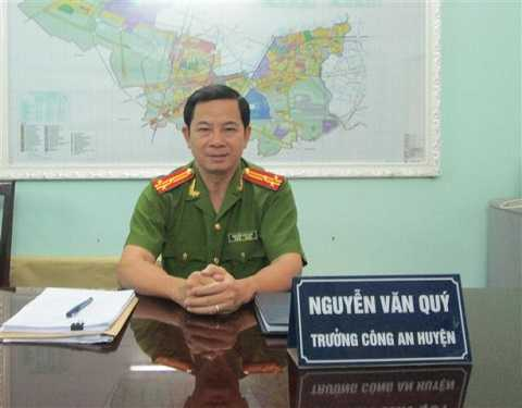 Ông Nguyễn Văn Qúy lúc còn mang cấp hàm Thượng tá
