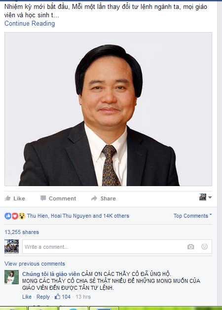 Kiến nghị trên diễn đàn nhận được hơn 14.000 lượt thích và chia sẻ