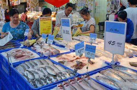 Hàng thủy sản vào siêu thị Big C phải chịu chiết khấu cao ngất.