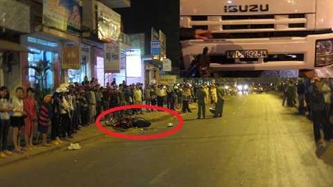 Hiện trường vụ tai nạn do xe tải gây ra - Ảnh:Thanh Hải