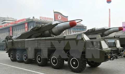 Tên lửa Musudan tham gia lễ duyệt binh kỷ niệm 65 năm thành lập Đảng Lao động Triều Tiên ở Bình Nhưỡng tháng 10/2010