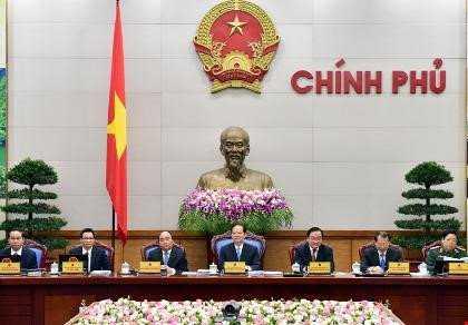 Thủ tướng Nguyễn Tấn Dũng chủ trì phiên họp Chính phủ thường kỳ tháng 3/2016. Ảnh: VGP/Nhật Bắc