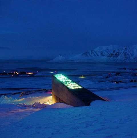 Hầm hạt giống nằm ở nằm biệt lập ở Bắc Cực