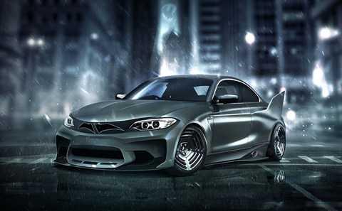 BMW M2 của Người dơi. So với chiếc   Batmobile thì BMW M2 tỏ ra nhỏ bé và hiền lành hơn. Tuy vậy, nhóm thiết   kế cho rằng kích thước của mẫu xe Đức sẽ giúp Người dơi chạy qua các con   phố đông đúc tại Gotham dễ dàng hơn. Xe được tạo hình với tông màu tối   nhằm phù hợp với biệt danh