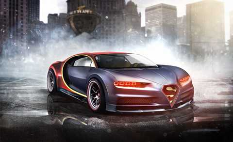 Bugatti Chiron của Siêu nhân. Với một   siêu anh hùng có sức mạnh siêu nhiên như bay vòng quanh trái đất trong   vòng