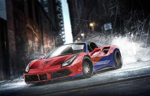 Ferrari 488 Spider của Người nhện.