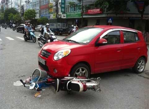 Ôtô gây tai nạn. Ảnh minh họa