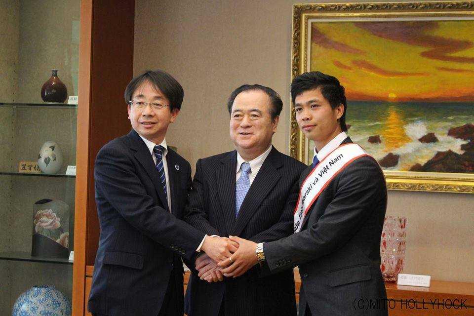 Công Phượng làm đại sứ giao lưu giữa tỉnh Ibaraki với Việt Nam