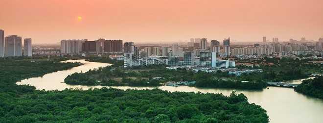 Khu đô thị mới ở Q.7, TP.HCM Ảnh:  Max Hồ