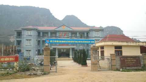 Trụ sở xã Định Thành, nơi ông Đỗ Lương Sâm công tác trước khi gặp nạn.