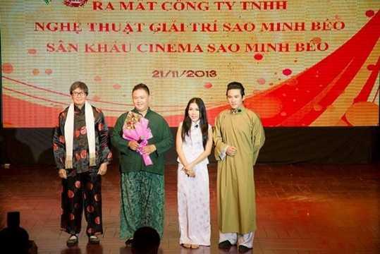 Minh Béo là nghệ sĩ hài được nhiều khán giả yêu thích. Anh thành lập sân khấu Sao Minh Béo ngày 1/12/2013 (tại quận 11, TP HCM) và tập hợp được nhiều nghệ sĩ tham gia. Ảnh: Wshowbiz.
