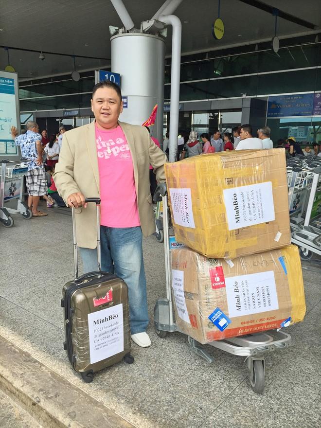 Minh Béo tại sân bay Tân Sơn Nhất vào ngày 18/3. Ảnh: Duy England