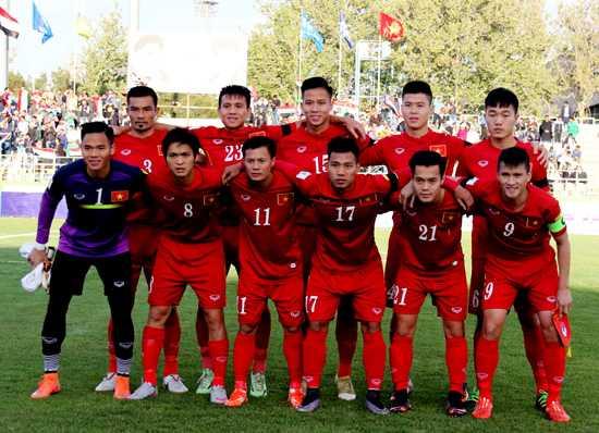 Đội hình ra sân của tuyển VN