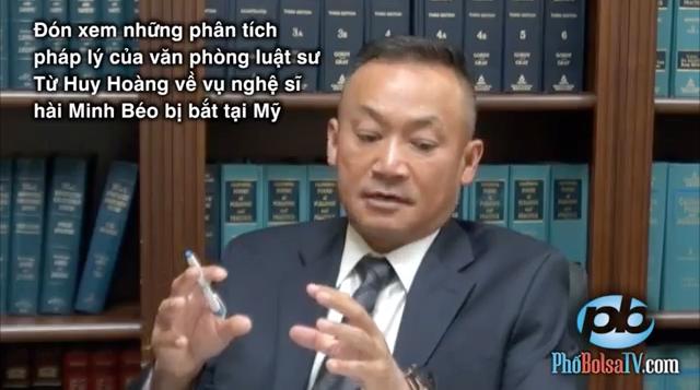 Luật sư đầu ngành hình sự tại Mỹ phân tích về trường hợp của Minh Béo trên Phố Bolsa TV - một chương trình truyền hình cho người Việt tại hải ngoại.