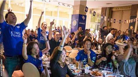 Leicester City đang là một trong những đội bóng được yêu thích nhất tại Thái Lan