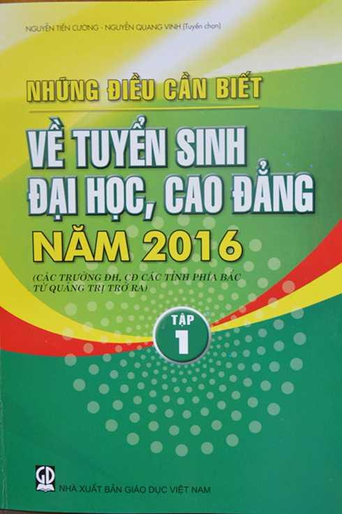 Những điều cần biết về tuyển sinh đại học, cao đẳng năm 2016 của các trường thuộc các tỉnh phía Bắc (từ tỉnh Quảng Trị trở ra)