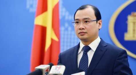 Người phát ngôn Bộ Ngoại giao Việt Nam, Lê Hải Bình. Ảnh: Hoàng Hà