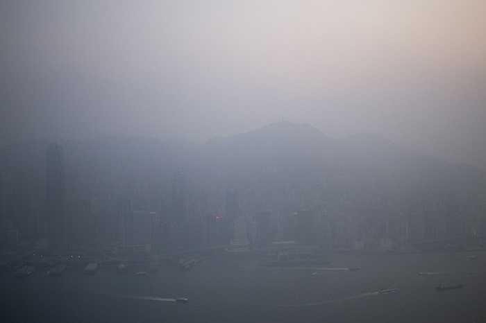 Sương mù bao phủ Hongkong