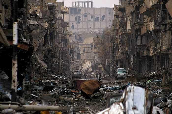 Thành phố Deir Ezzor, Syria hoang tàn sau những cuộc giao tranh