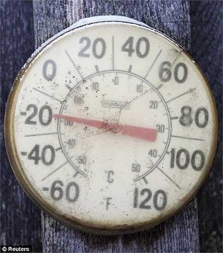 Nhiệt kế chỉ xuống -30 độ C trong khi dự báo nhiệt độ vẫn tiếp tục giảm