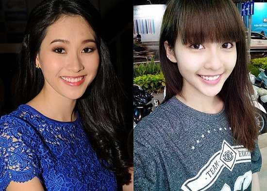 Hot girl Khả Ngân được nhận xét là bản sao 16 tuổi của Hoa hậu Đặng Thu Thảo.