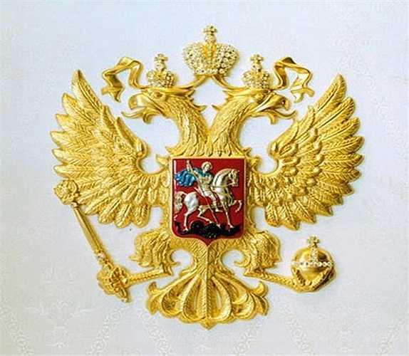 Một biểu tượng bằng vàng được gắn trên chuyên cơ.