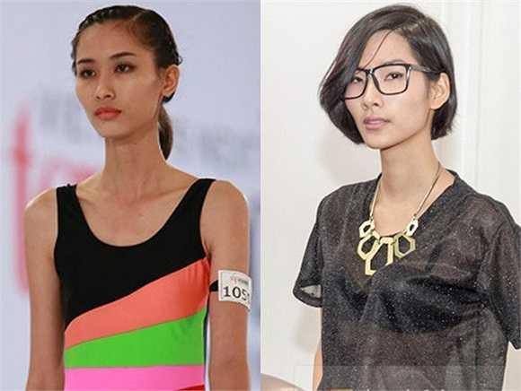Nguyễn Thị Hằng - thí sinh của Vietnam's Next Top Model 2013 giống Hoàng Thùy ở thân hình mỏng và khuôn mặt góc cạnh.