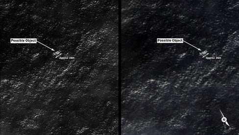 Australia công bố ảnh vệ tinh chụp vật thể được cho là mảnh vỡ MH370