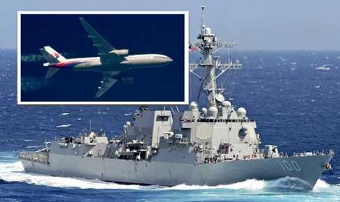 Máy bay và tàu chiến Mỹ đang trên đường đến khu vực có mảnh vỡ