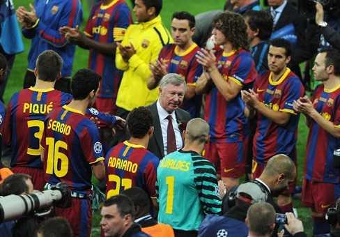 Sir Alex đã 2 lần thất bại trước Barca tại chung kết Champions League