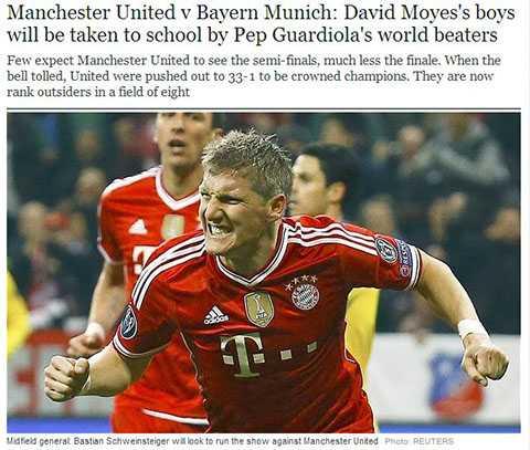 Tờ Telegraph cũng phủ nhận năng lực của Man Utd