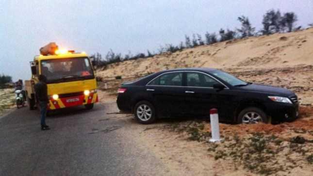 Bức ảnh Sơn đăng trên facebook chỉ là vụ tai nạn thông thường.
