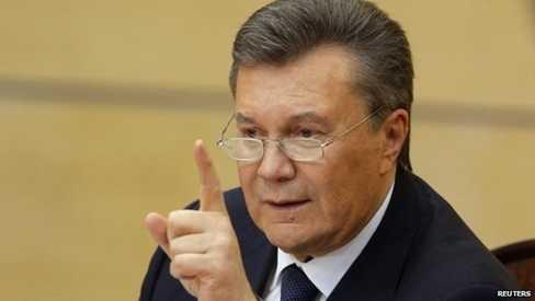 Tổng thống bị lật đổ Yanukovych