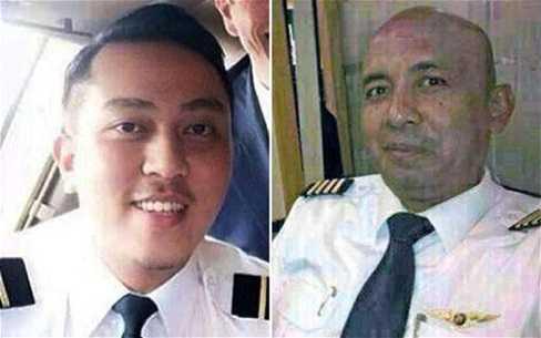 Cơ trưởng MH370 (phải) và cơ phó