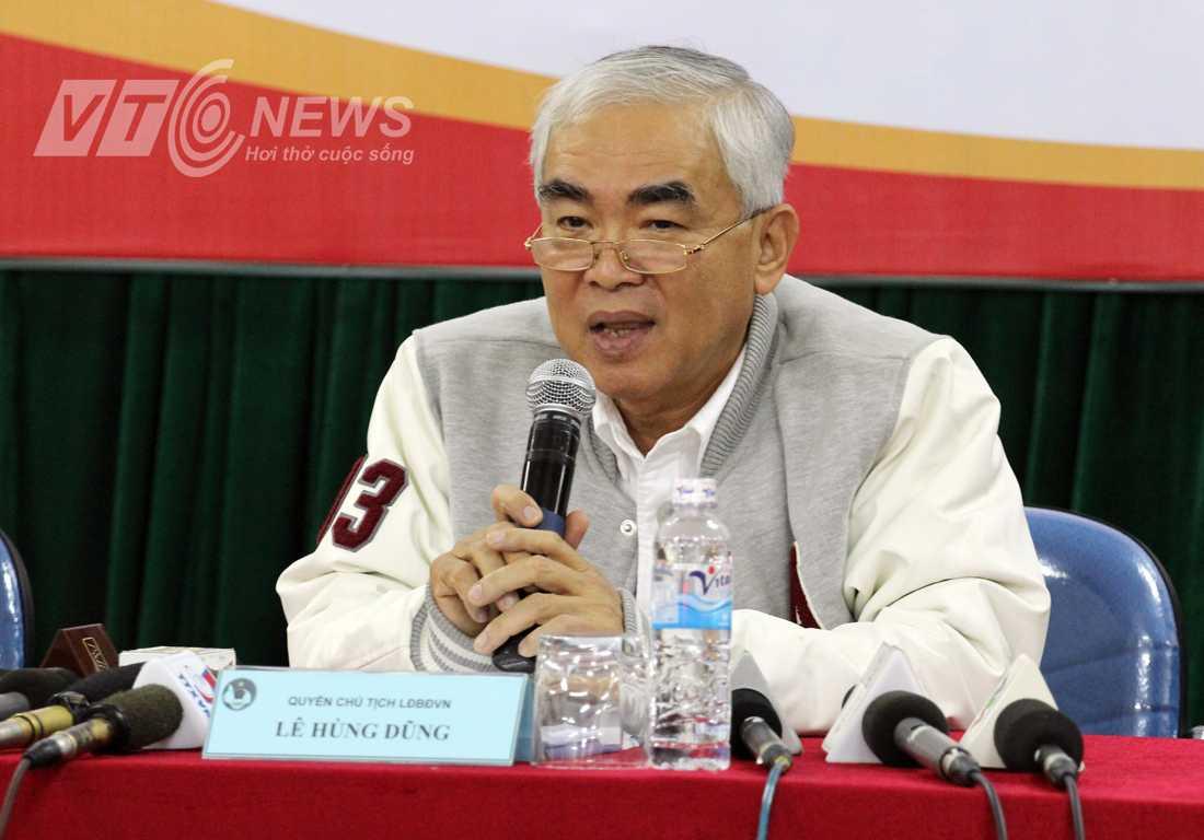 Quyền chủ tịch VFF Lê Hùng Dũng (Ảnh: Hà Thành)