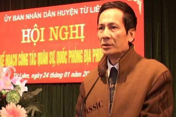 Phó Chủ tịch UBND huyện Từ Liêm Nguyễn Kim Vinh tới đây sẽ là Phó Chủ tịch UBND quận Bắc Từ Liêm. Ảnh: Đài Từ Liêm.