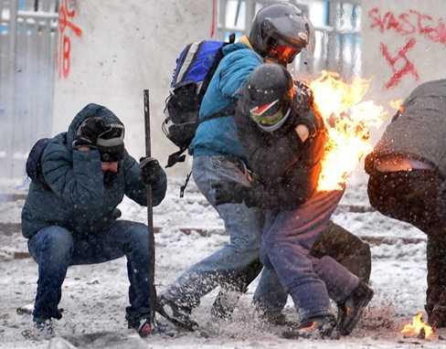 Những người biểu tình ở Kiev, Ukraine