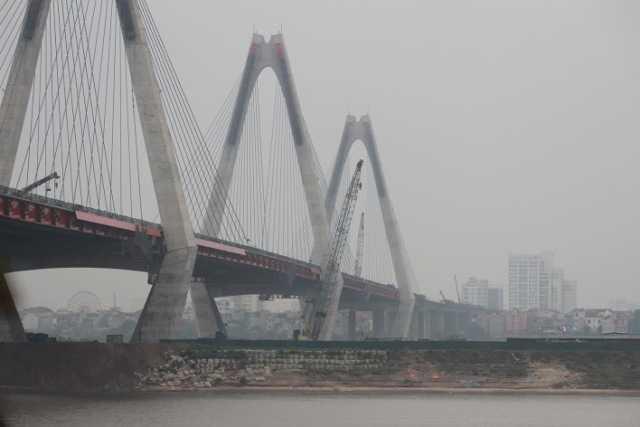 Dự kiến vào dịp kỷ niệm 60 năm ngày giải phóng Thủ đô tới (10/10/2014), cây cầu dây văng nghìn tỷ Nhật Tân - niềm tự hào của Hà Nội sẽ đưa vào sử dụng