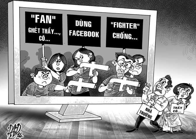 Học sinh lên facebook nói xấu thầy cô