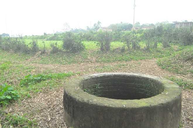 Chiếc giếng nơi phát hiện sự việc