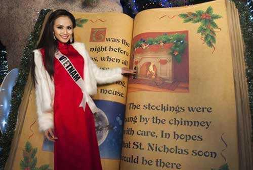 Diễm Hương gây ấn tượng tốt tại cuộc thi Hoa hậu hoàn vũ 2012