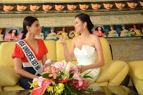 Sau đó, cô trở thành đại sứ và người hướng dẫn Trương Thị May trong cuộc thi Hoa hậu hoàn vũ 2013
