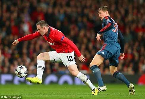 Rooney nhiều khả năng không thể tham dự trận lượt về với Bayern Munich