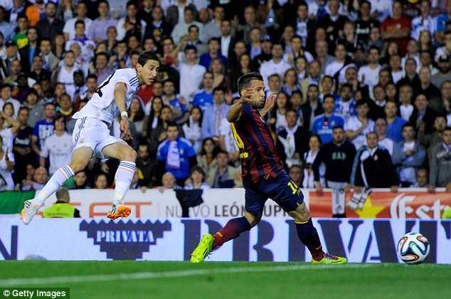 Di Maria mở tỉ số cho Real ngay từ phút thứ 11