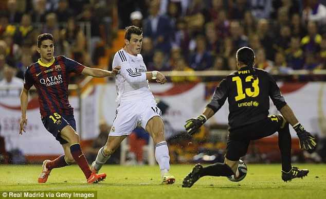 Bale đua nước rút thần tốc và dứt điểm tinh tế ấn định tỉ số 2-1 cho Real